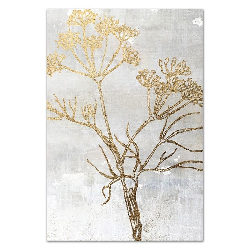 Obraz Złote kwiaty 1