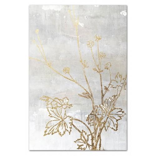 Obraz Złote kwiaty 3
