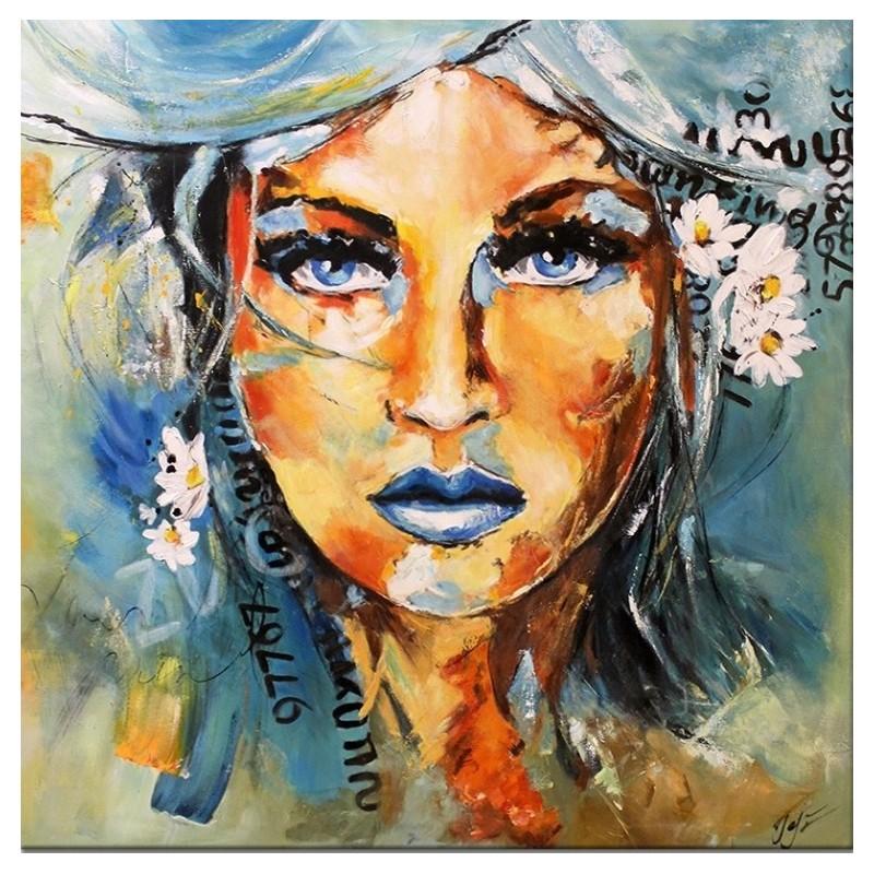 Obraz Abstrakcja Twarz blue