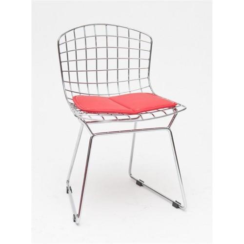Krzesło dziecięce Handi Junior czerwona poduszka
