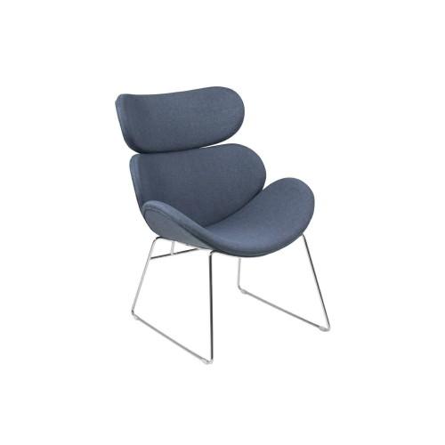 Fotel Celion Dark Blue chrom