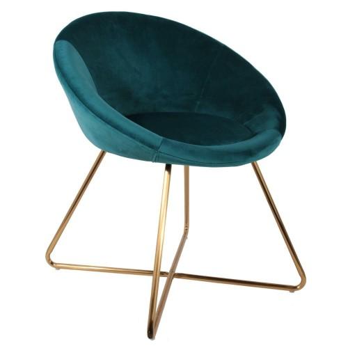 Fotel Karlos Velvet niebieski