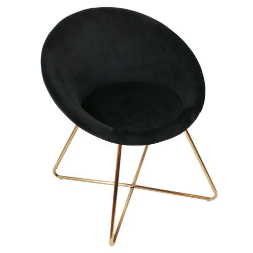 Fotel Karlos Velvet czarny