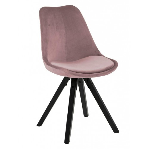 Krzesło Dilma VIC dusty rose /black