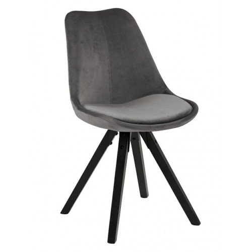 Krzesło Dilma VIC dark grey /black