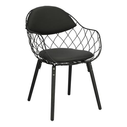 Krzesło Jandi czarnePU/czarne/czarne