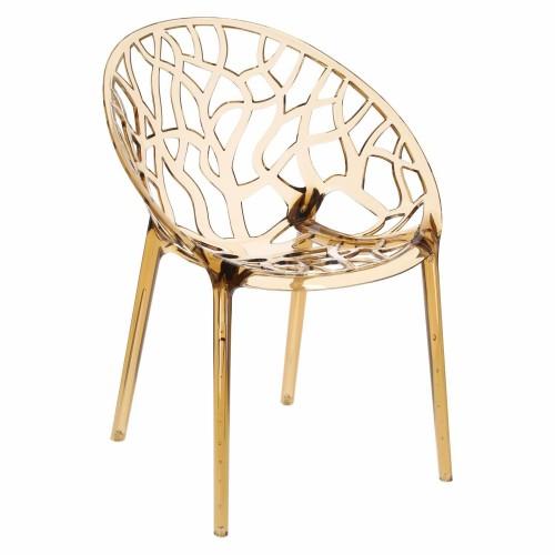 Krzesło Coral bursztynowe