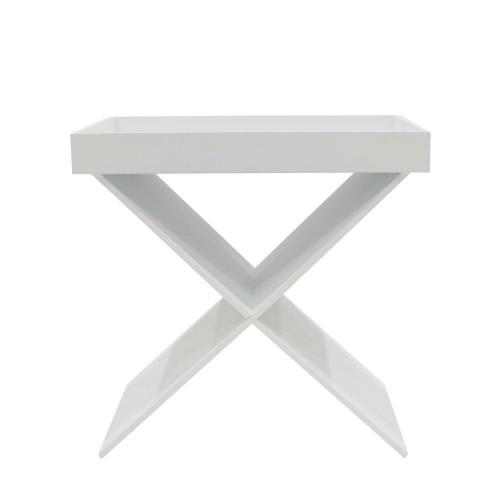 Stolik Hyllan biały ze zdejmowaną tacą