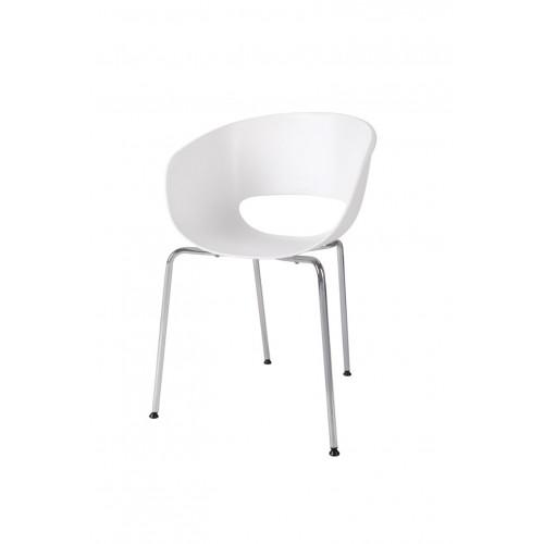 Krzesło Muszelka białe