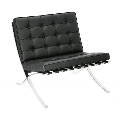 Fotel Barca 1 skóra naturalna czarna