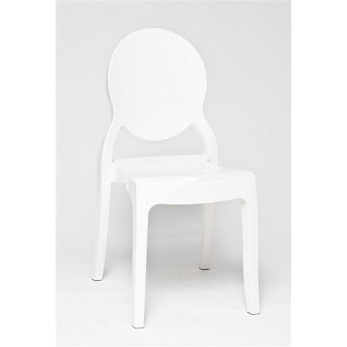 Krzesło Lama White Glossy