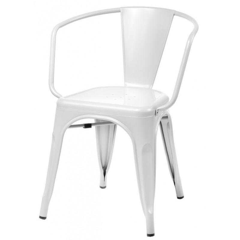 Krzesło Perla Arms białe
