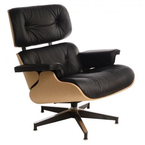 Fotel Boss czarny/natural oak/standard ba se