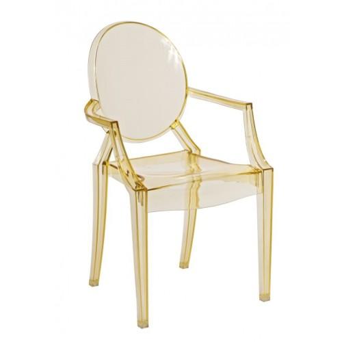 Krzesło dziecięce Dama Jr. żółty transparent