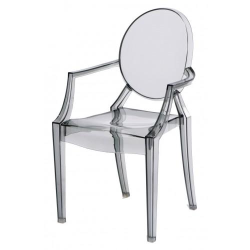 Krzesło dziecięce Dama Jr. transparentny dymiony