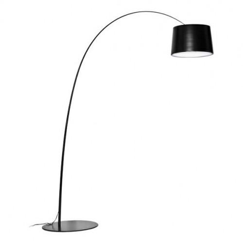 Lampa podłogowa CLEO czarna - włókno szklane, metal