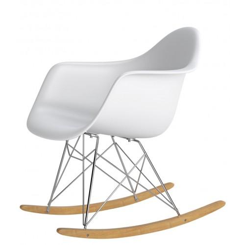 Krzesło bujane Rita biały