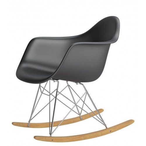 Krzesło bujane Rita czarne