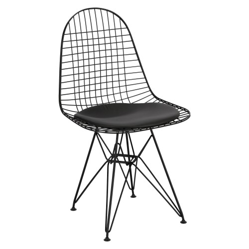 Krzesło Net czarne /czarna poj. poduszka