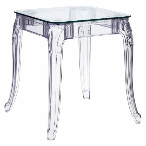 Stół Ghost 62x62cm transparentny