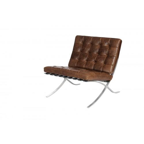 Fotel Barca1 brązowy ciemny vintage