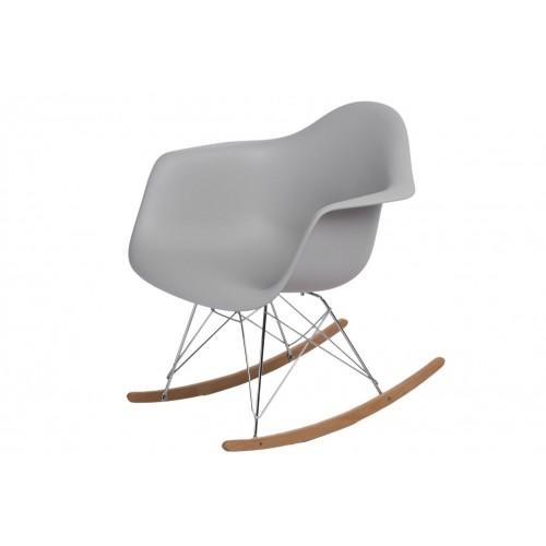 Krzesło bujane Rita light grey