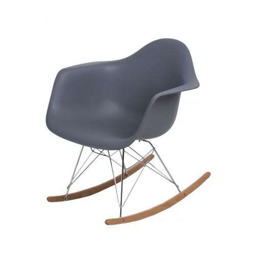 Krzesło bujane Rita dark grey