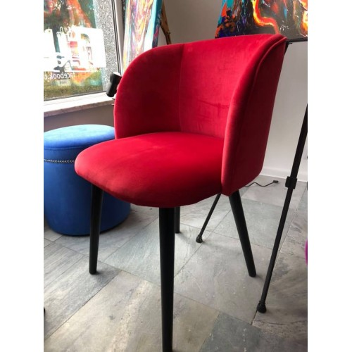 Krzesło Zura tkanina czerwona rodos
