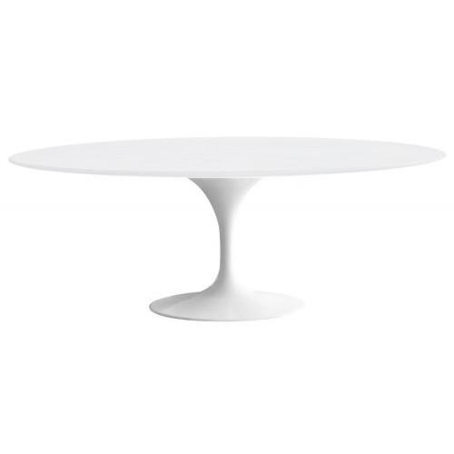 Stół TULIP ELLIPSE biały - blat owalny MDF, metal