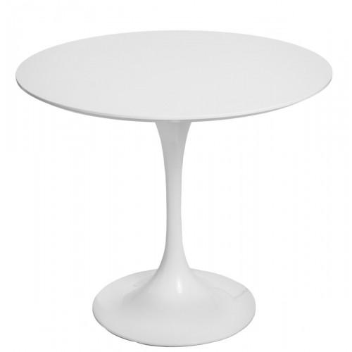 Stół Fiber o90 biały MDF