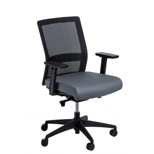 Fotel biurowy Prestige czarny/szary