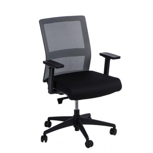Fotel biurowy Prestige szary/czarny
