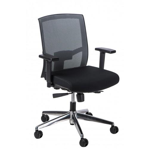 Fotel biurowy Era czarny/czarny