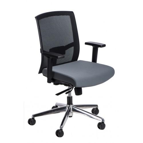 Fotel biurowy Era czarny/szary