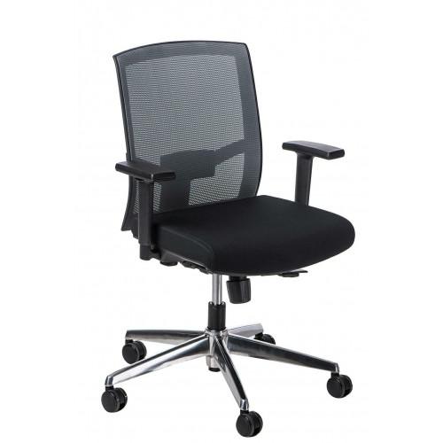 Fotel biurowy Era szary/czarny