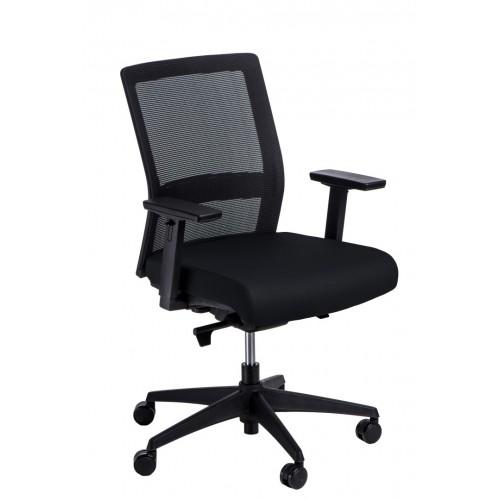 Fotel biurowy Prestige czarny/czarny ówkiem