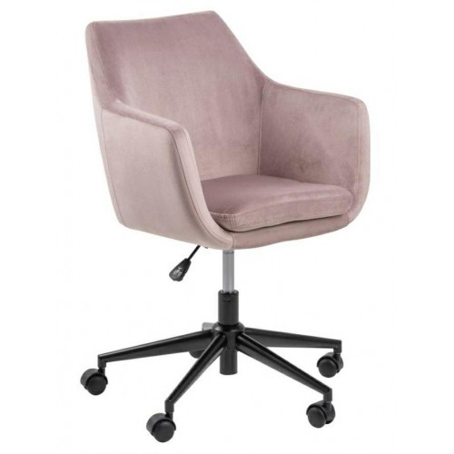 Fotel biurowy na kółkach Nina VIC różowy