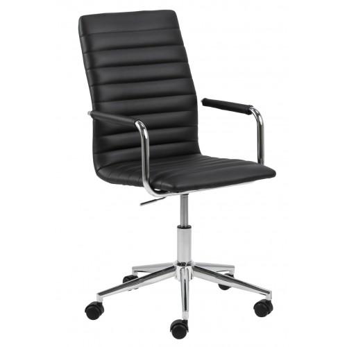 Fotel biurowy na kółkach Wilma czarny