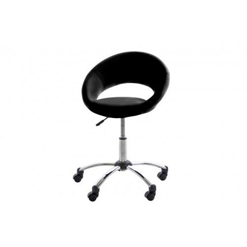 Fotel biurowy na kółkach Pamela czarny