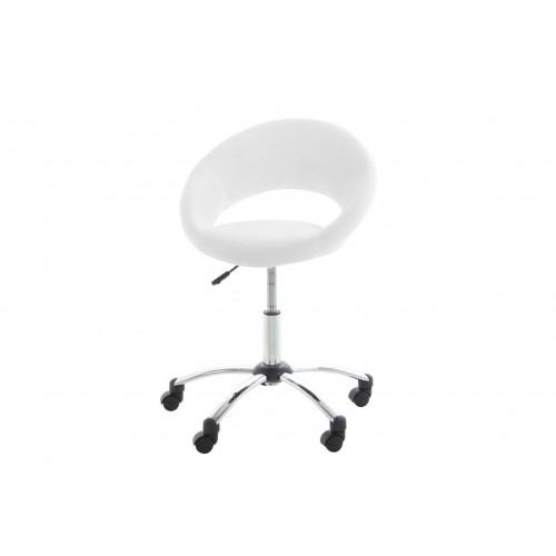 Fotel biurowy na kółkach Pamela biały