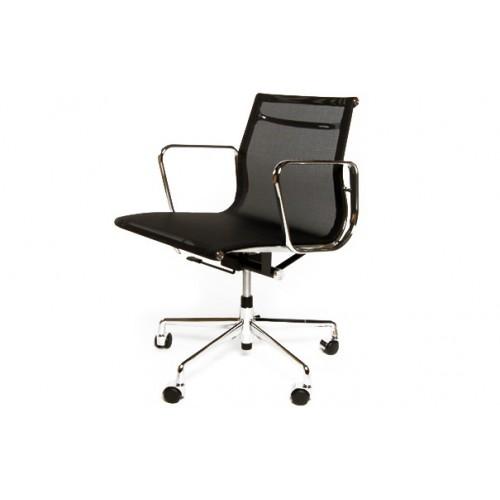 Fotel biurowy Lider czarna siateczk,chrom