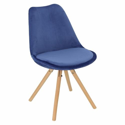 Krzesło Lord Star Velvet niebieskie