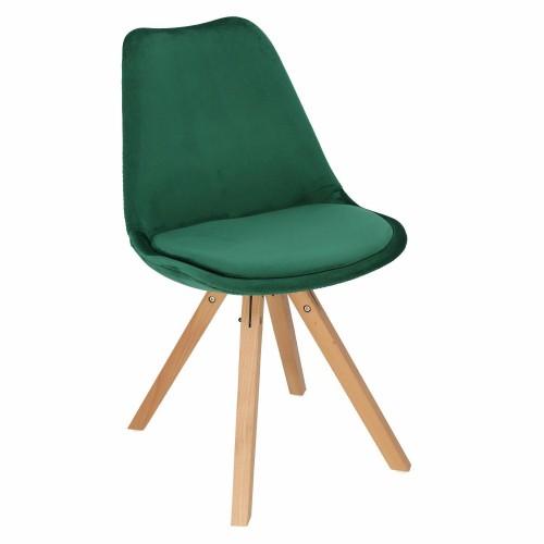 Krzesło Lord Star Square Velvet zielo ne