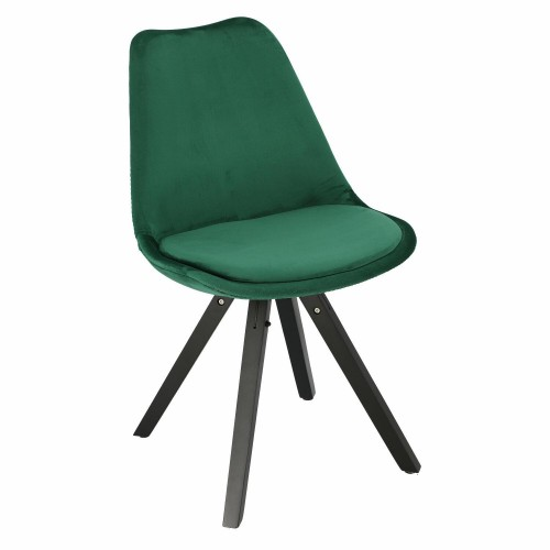 Krzesło Lord Star Square black Velvet zielone