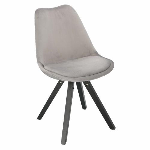 Krzesło Lord Star Square black Velvet szare