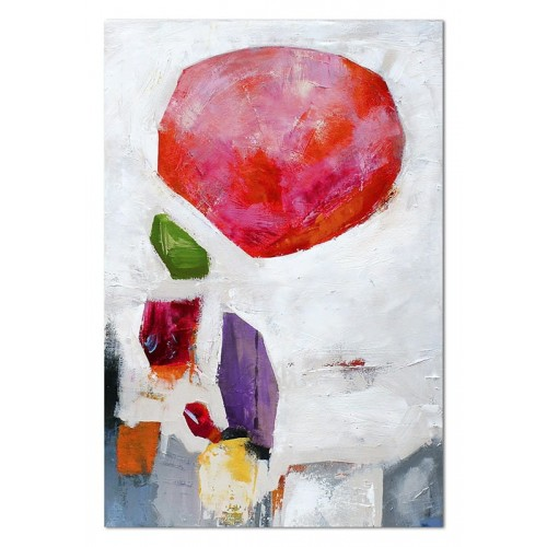 Obraz abstrakcja Czerwona Kula