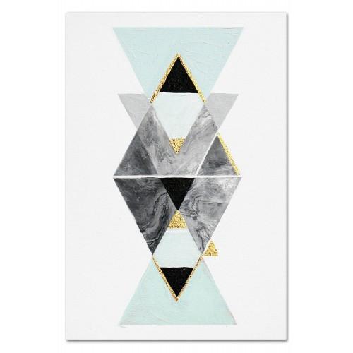 Obraz Geometric Blue 1