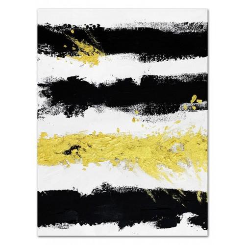 Obraz abstrakcja Czarny i Żółty