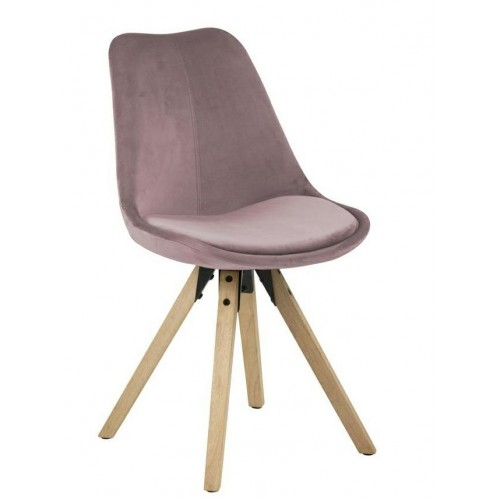Krzesło Dilma VIC dusty rose/wood
