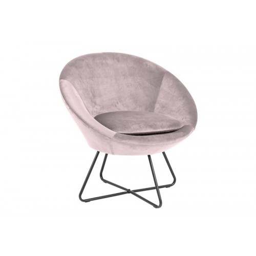 Fotel Karlos VIC różowy